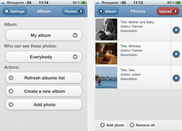 Piwigo for iOS, upload photos in your Piwigo gallery from your iPhone