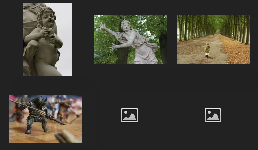 New on Piwigo 2.5: as long as your thumbnail is not ready, we display a default icon.