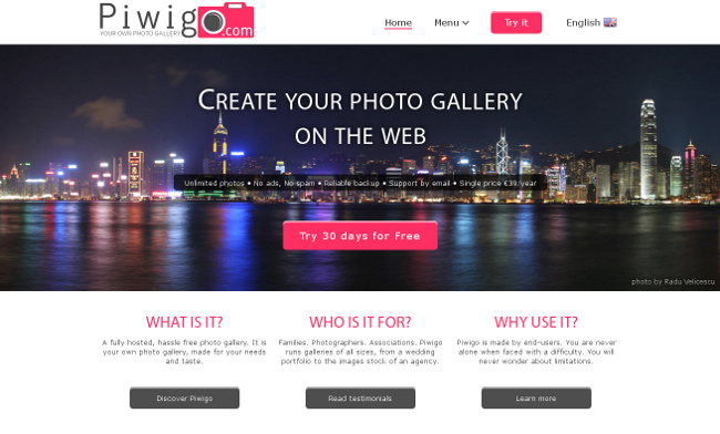 Piwigo.com new home page