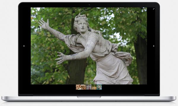 Full screen slideshow with plugin Fotorama (here a 1680 pixels wide screen)