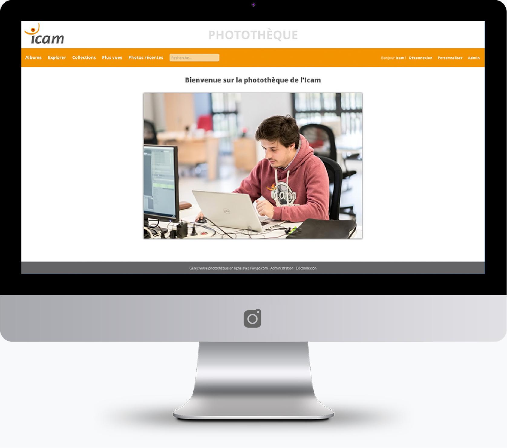 screenshot of ICAMs custom piwigo