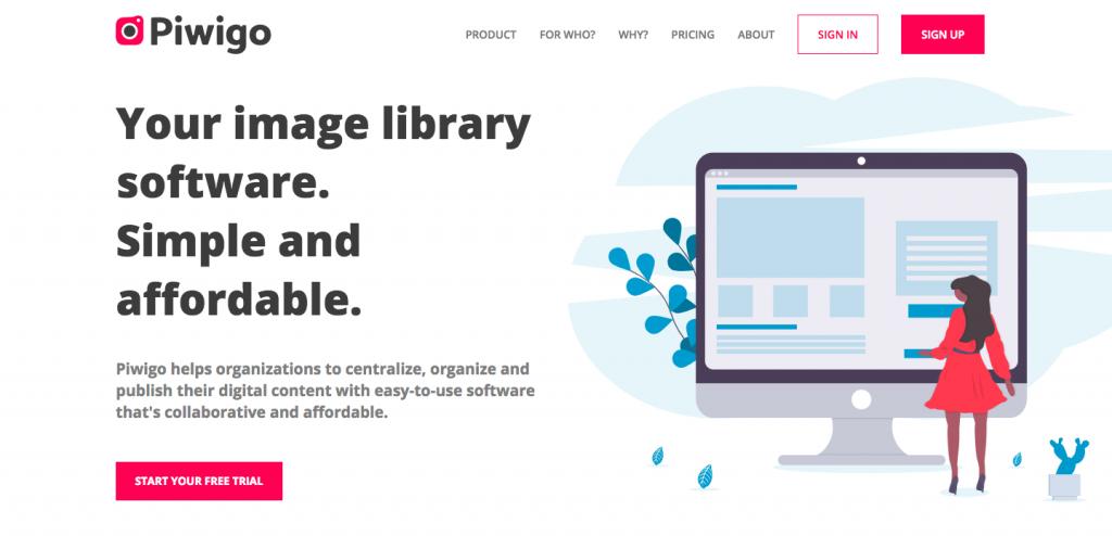 piwigo.com homepage